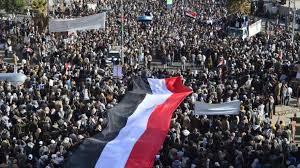 Masiva manifestación en Yemen. /Foto: hispantv.com.