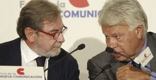 Juan Luis Cebrián y Felipe González, muy siniestros.