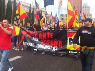 Patriotas en Barcelona. /Foto: lamarea.com.
