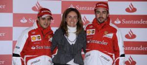 El último amor de Emilio Botín, junto a Fernando Alonso. /Foto: elconfidencial.com.