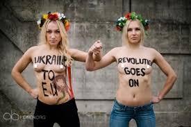Femen, grupo financiado por George Soros. /Foto: filonoi.gr.
