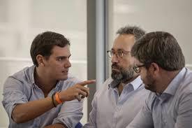 Albert Rivera, Juan Carlos Girauta y Fran Hervías. /Foto: goo.gl.