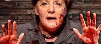 Ángela Merkel, financia a asesinos de alemanes. /Foto: elplural.com.