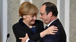 Ángela Merkel y François Hollande. /Foto: 13cl.com.