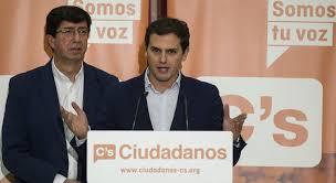 Albert Rivera con Juan Marín. /Foto: espiaenelcongreso.com.