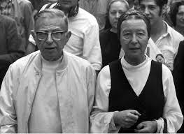 Jean Paul Sartre y Simone de Beauvoir, una extraña pareja. /Foto: therdlist.com.