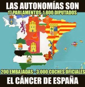 El c ncer de espa a 2 autonom as gastando en pol tica for Politica exterior de espana