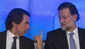 José María Aznar y Mariano Rajoy, dos desastres. /Foto: publico.es.