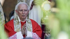 Cardenal Antonio Cañizares ante Jesús Sacramentado. /Foto: elconfidencial.com.