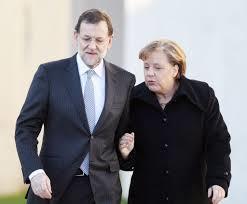 Mariano Rajoy y Ángela Merkel, traidores. /Foto: lainformacion.com.