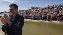 Éxito de movilización de Pedro Sánchez en Dos Hermanas. /Foto: 20minutos.es.