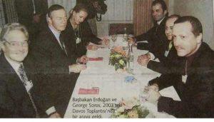 George Soros con Recep Tayipp Erdogan, cuando éste aún no había llegado al poder.
