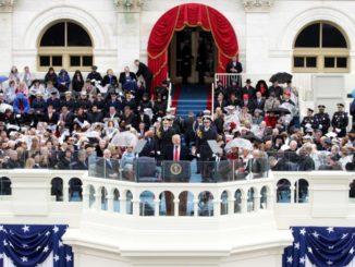 Donald Trump. 45 presidente, en la toma de posesión. /Foto: Alexa Wong.