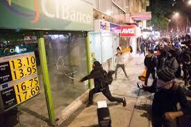 Vandalismo en México por el gasolinazo. /Foto: jornada.unam.mx.
