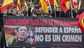 Imagen de la manifestación en apoyo a los patriotas de Blanquerna. /Foto: ccaa.elpais.com.