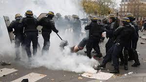 Imagen de los disturbios. /Foto: apertura.com.