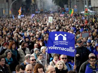 Manifestación en Barcelona. /Foto: elperiodico.com.
