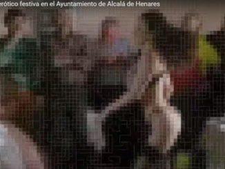 Imagen del vídeo de YouTube de la orgía municipal de Alcalá.