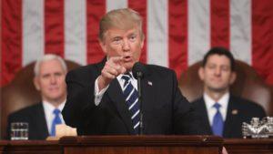 Donald Trump, en su discurso al Congreso. /Foto: lavanguardia.com.